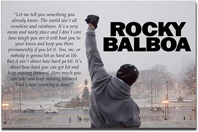 Rocky balboa film citation boxe toile wall art déco