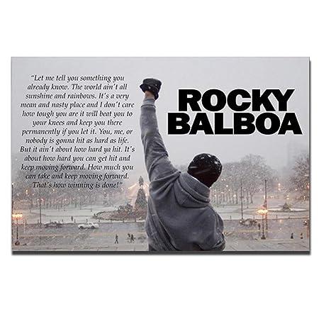 Rocky Balboa Impresiones De Lienzo De Arte Motivación Del