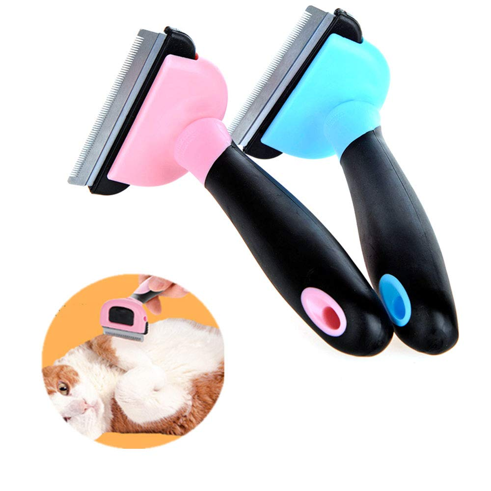 ZYZ 2 Pcs Pet Grooming Brush, Effectively Reduces by up to 95% Professional Deshedding Tool for Dogs and Cats, Reduces The Burden Combing Process