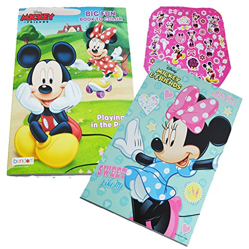 Benton Disney Minnie Mouse Coloring Book 2-Pack (Sweet Like Me, Playing In The Park, and other Assorted Titles)