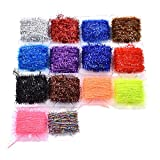10 Cards Multi Colors Tinsel Chenille Line Crystal Flash Line Fly Fishing Tying Material for Nymphal Bugs Scud