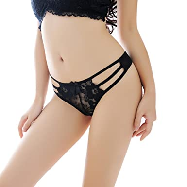 07c993396dc6 LHWY Elastic Women's Bandage Lace Thongs G String V-String Panties Lingerie Underwear  Thong Knickers