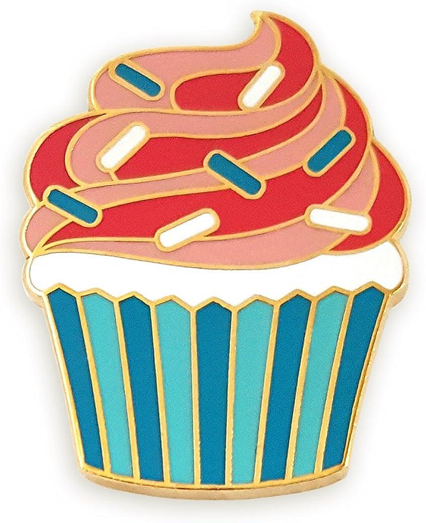 Pinsanity Cupcake Enamel Lapel Pin
