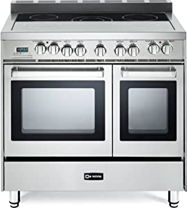 "Verona VEFSEE365DSS 36"" Electric Double Oven Range Convection Stainless Steel"