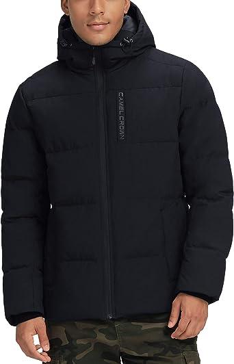 Winter Men/'s White Duck Down Jacket Hooded Puffer Warm Parkas Thicken Down Coat