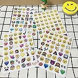 CALISTOUK 48 Stickers Per 4 Sheets Funny Custom Emoji Sticker Labels Tablet Decor