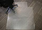 Mammoth Office Products Anti-Static PVC Plastic Chair Mat for Standard Pile (3/8-Inch or Less) Carpeting, 45 x 53 Inches Rectangular with Lip (V4553LAS)