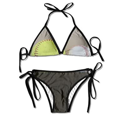 Amazon.com: aleisin Softball béisbol Bikini mujer bañadores ...