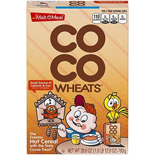 Malt-O-Meal Coco Wheats Hot Cereal, 28 Ounce, 12 Count