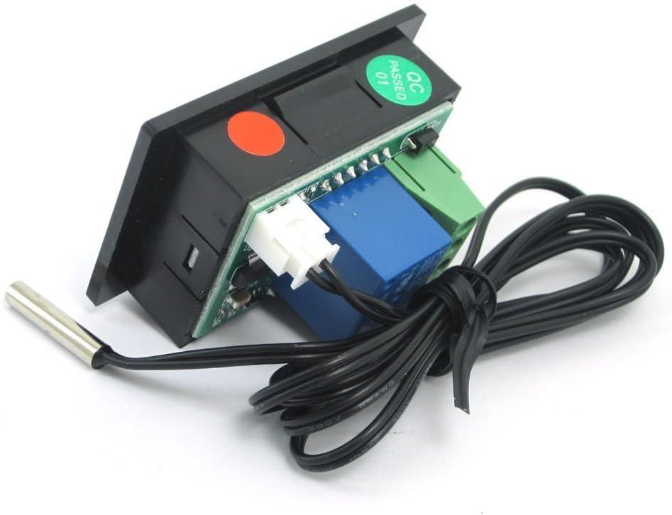DollaTek DC12V Relay Contr/ôle num/érique du Thermostat avec capteur de temp/érature 50-110 /° C Blanc
