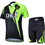 LSERVER Kids Breathable Quick Dry Cycling Jersey Shorts Set
