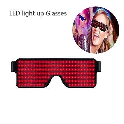 Gafas con luces LED Neon con 8 modos programables para fiesta o festival.
