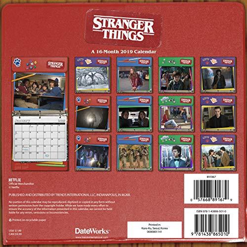 Stranger Things Calendar 2019 Set - Deluxe 2019 Stranger Things Mini Calendar with Over 100 Calendar Stickers (Stranger Things Gifts, Office Supplies)