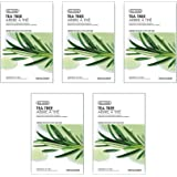 The Face Shop Real Nature Unisex Tea Tree Face Mask, 100 g (Pack of 5)