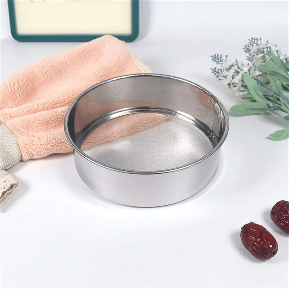 POP-STYLE Flour Sifter Stainless Steel 40//60Mesh Flour Sifter Fine Mesh Stainless Steel Flour Sugar Powder Sieve Baking Supplies
