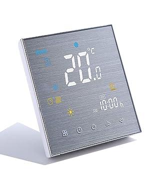 Qiumi Termostato Wifi para calefacción individual de calderas de ...