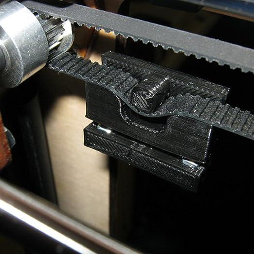 MIHOUNION correa dentada GT2 negro correa dentada impresora 3d caucho GT2 correa 6mm con Núcleo de Acero GT2 correa dentada para Impresora 3D, 5M: Amazon.es: Industria, empresas y ciencia