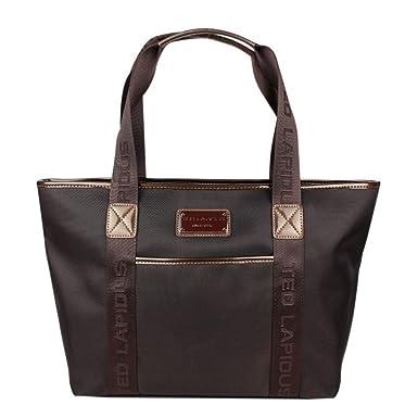 Ted Lapidus Shopping porté épaule Tonic Marron fIt9Ikp7