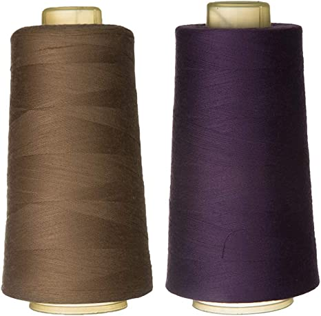2x Colorful All Purpose Polyester Sewing Thread for Sewing Machine 3000 Yards