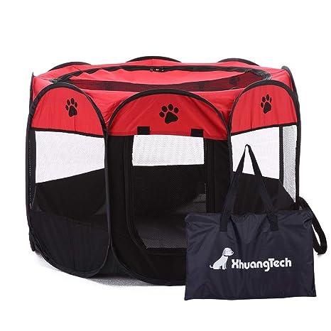 XianghuangTechnology Jaula de Tela Suave, portátil, Plegable, para Mascotas, Perros, Gatos