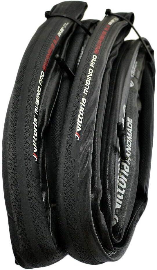 Black Vittoria Rubino Pro IV G2.0 GRAPHENE 700x28C Tubular Bicycle Bike Tire