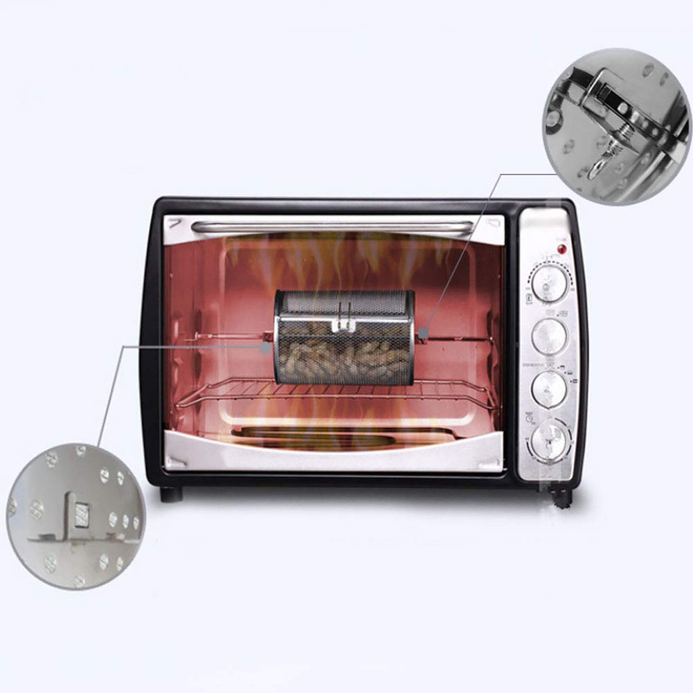 """Practical Electric Oven 360° Rotary Stainless Steel 8/"""" Round Drum Roast Cage"""