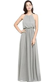 5ed2dbcd46d0 Babyonlinedress Halter Casual Maxi Dress Women s Chiffon Formal Evening  Dress