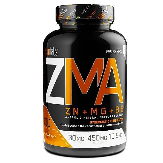Starlabs nutrition - ZMA Zinc + Magnesio + Vitamina B6 - Suplemento - 90 capsulas