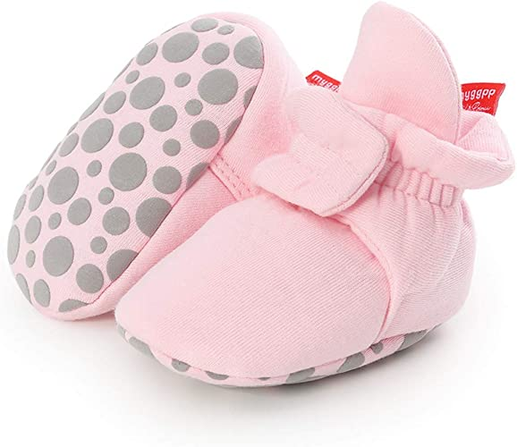 Baby Crib Shoes Toddler Girls Boys Anti-slip Cotton Socks Boots Infant Newborn