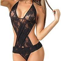 ❤️ Women Sexy Lingerie, Xinantime Plus Size Women Lace Teddy features Plunging Eyelash and Snaps Crotch Bodysuit Ladies Lingerie Sets Underwear