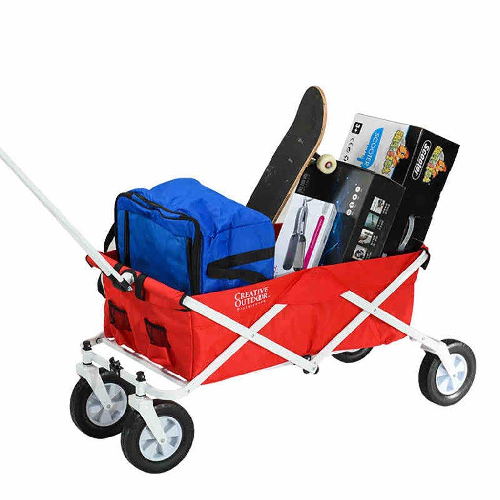 ショッピングカート ショッピングカート庭カート運搬カート折りたたみ折りたたみ可能引っ張りポータブル大   B07FYPKJRN