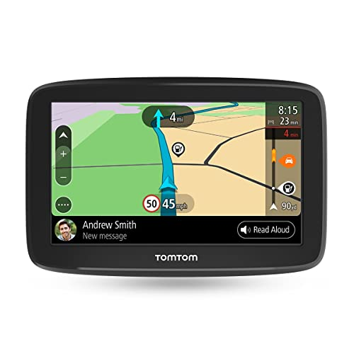 TomTom GO BASIC 5'' (5 Pouces) - GPS Auto - Cartographie Europe 48, Trafic à Vie via Smartphone, TomTom Road Trips et Wi-Fi intégré