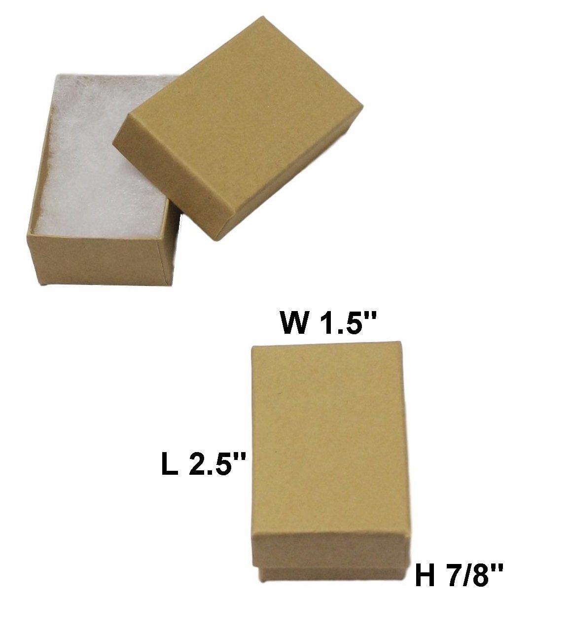 MSC Cotton Filled Jewelry Gift Box (Kraft) 2.5''x1.5''x7/8'' - #21 Pack of 40