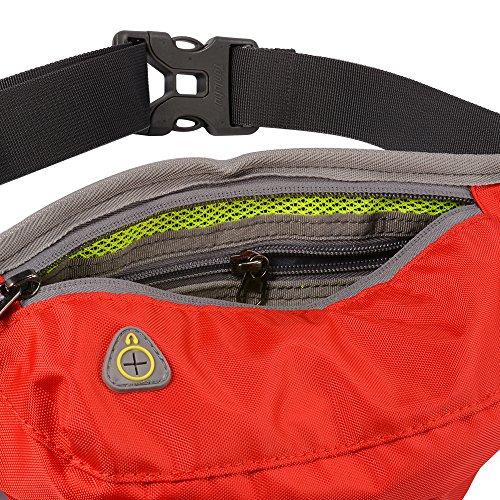 XCSOURCE Tanluhu il pacchetto della vita, sport cinghia di trasmissione regolabile, idrorepellente sweatproof Fanny Pack per camminare jogging in bicicletta Palestra Rosso MT413