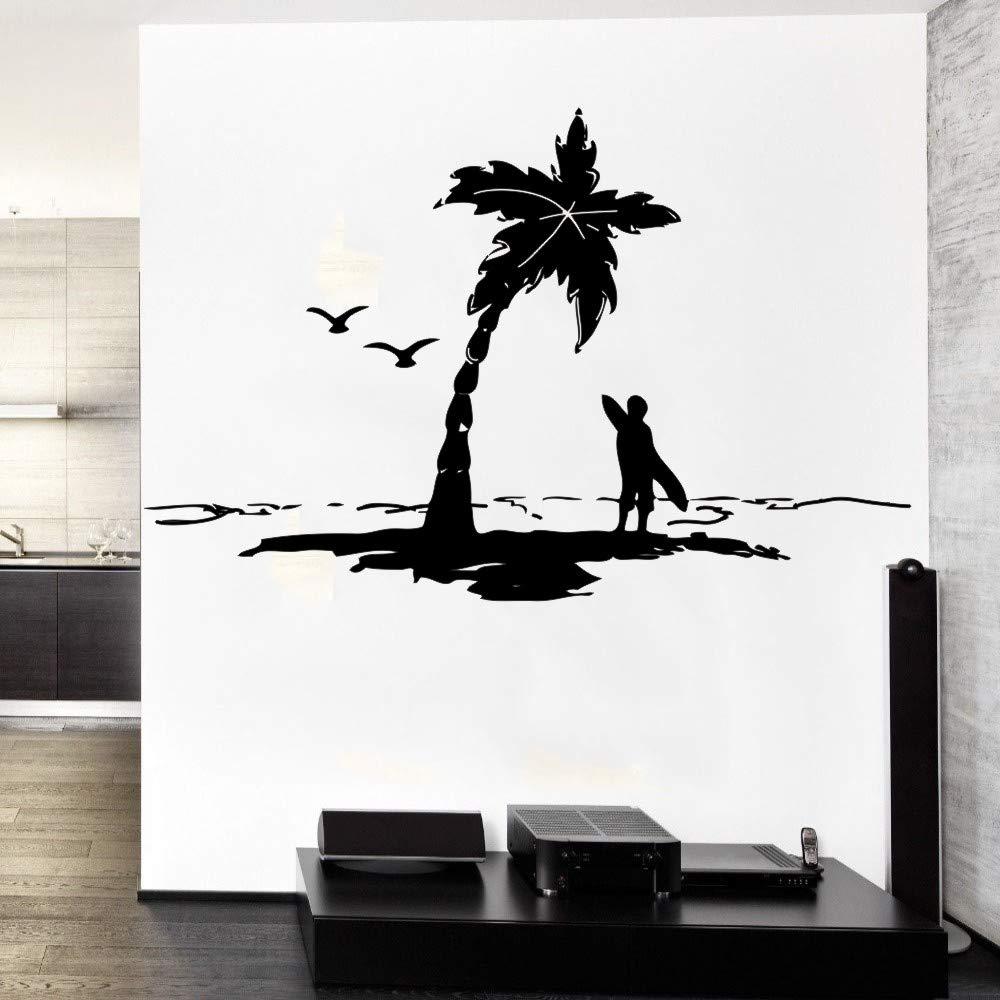 Ajcwhml Océano oceánico con Surfista de gaviotas con Tabla de Surf ...
