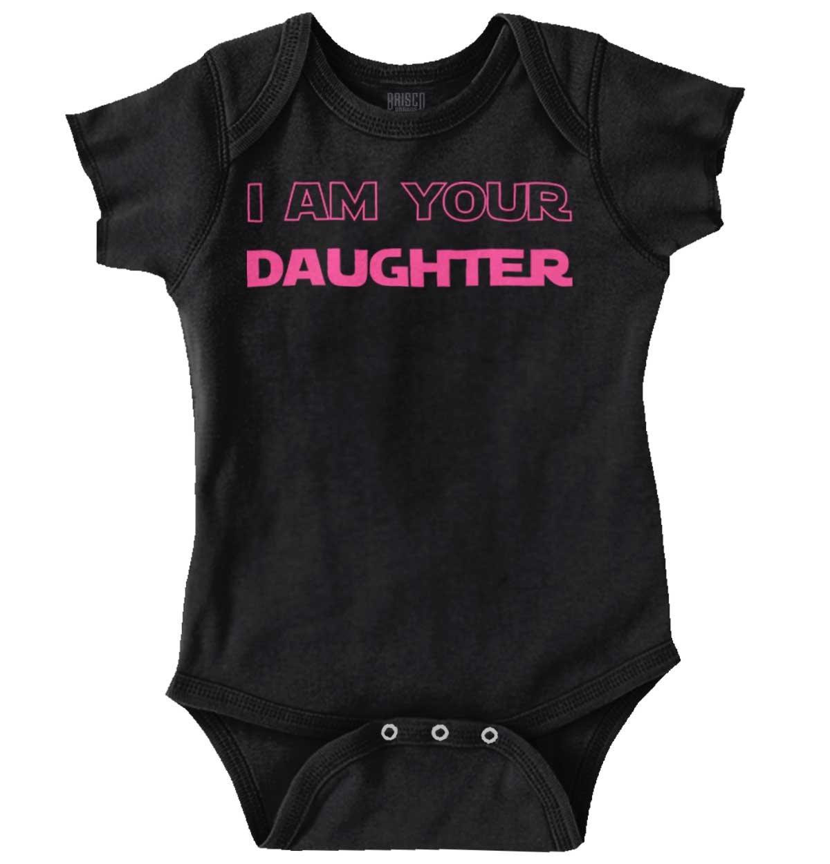 I Am Your Daughter Cute Darth Vader Star Wars Yoda Romper Bodysuit by Brisco Brands (Image #1)
