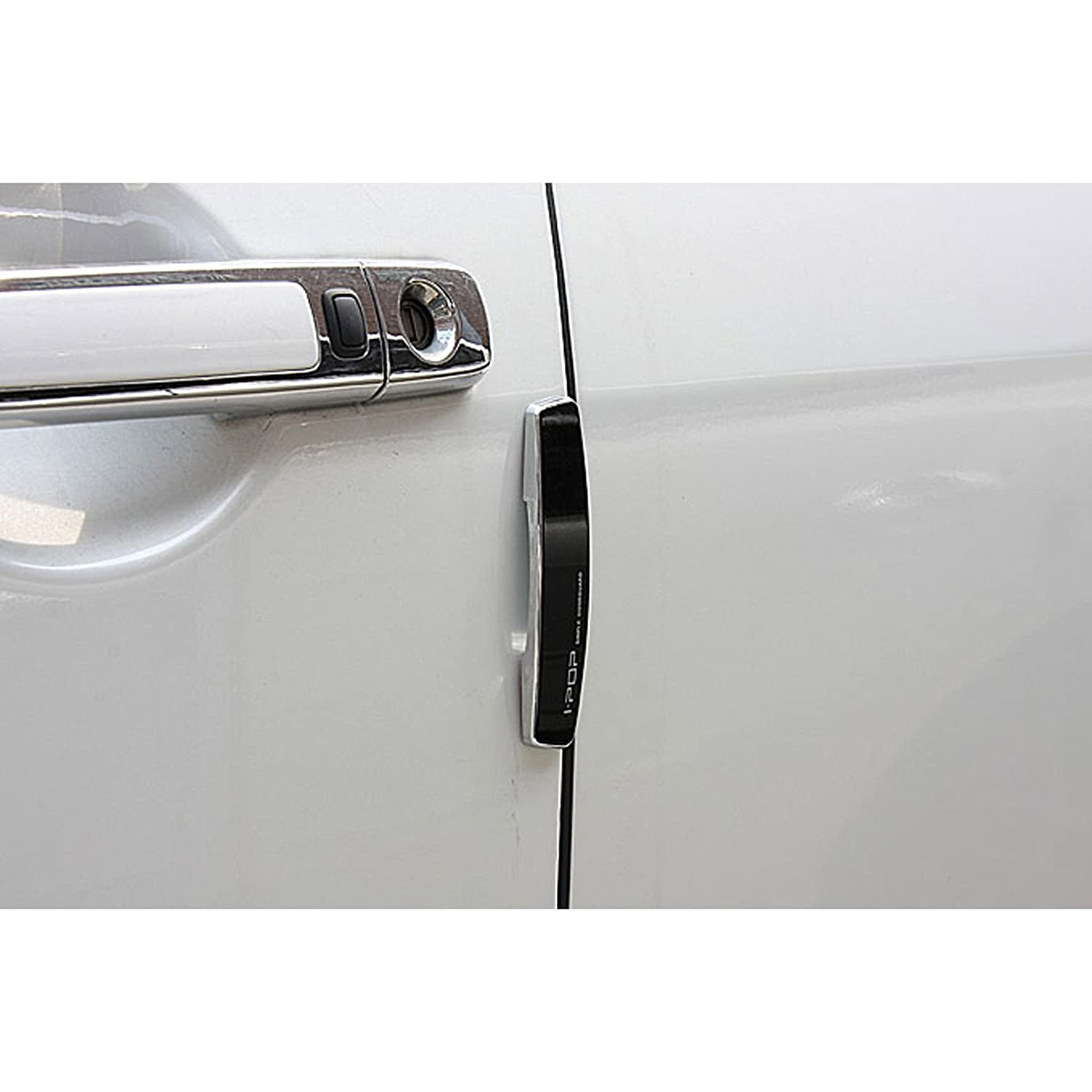 Amazon.com Black Slim 4pcs Door Edge Guards Bumper Protector Guard Black Chrome Coat Moldings for Car Motors Auto Vehicle Automotive  sc 1 st  Amazon.com & Amazon.com: Black Slim 4pcs Door Edge Guards Bumper Protector Guard ...