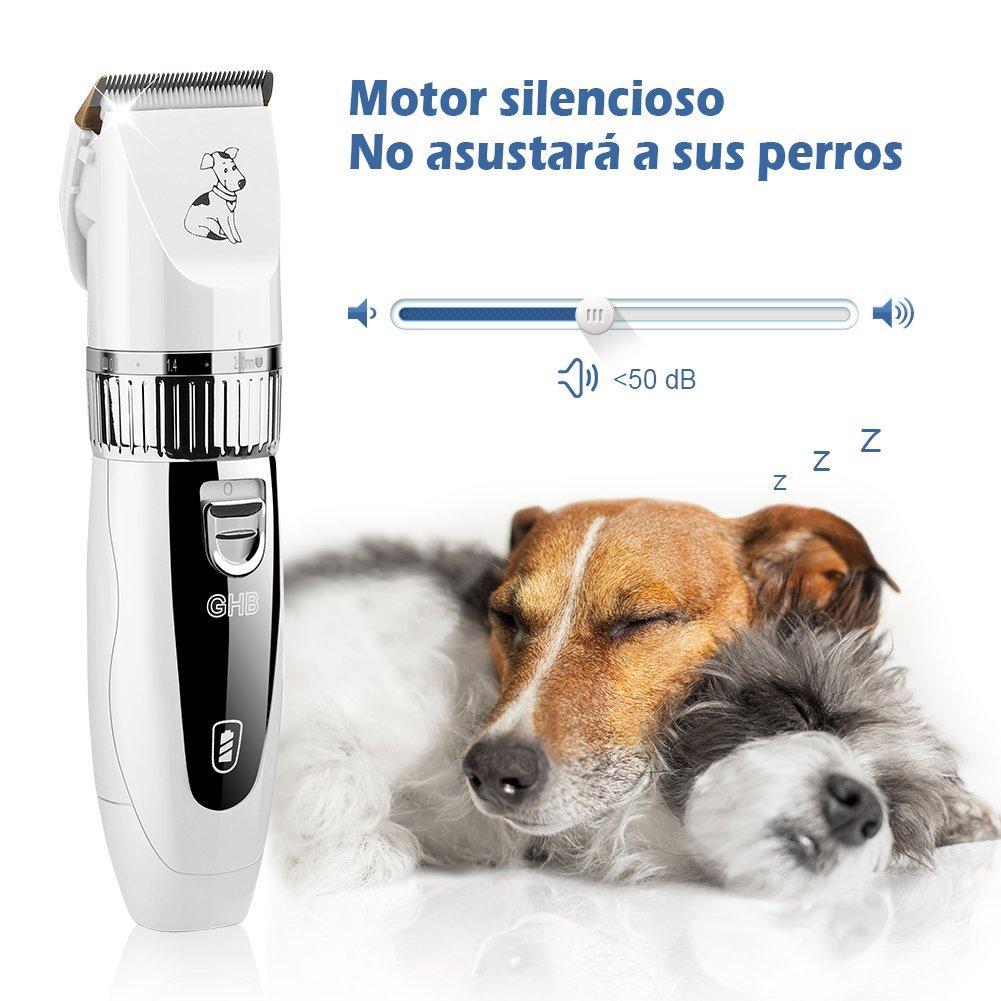 59e3cf2561292 GHB Cortapelo para Perro Esquiladora Eléctrica Dog Clipper Recargable Para  Mascota Gato  Amazon.es  Salud y cuidado personal