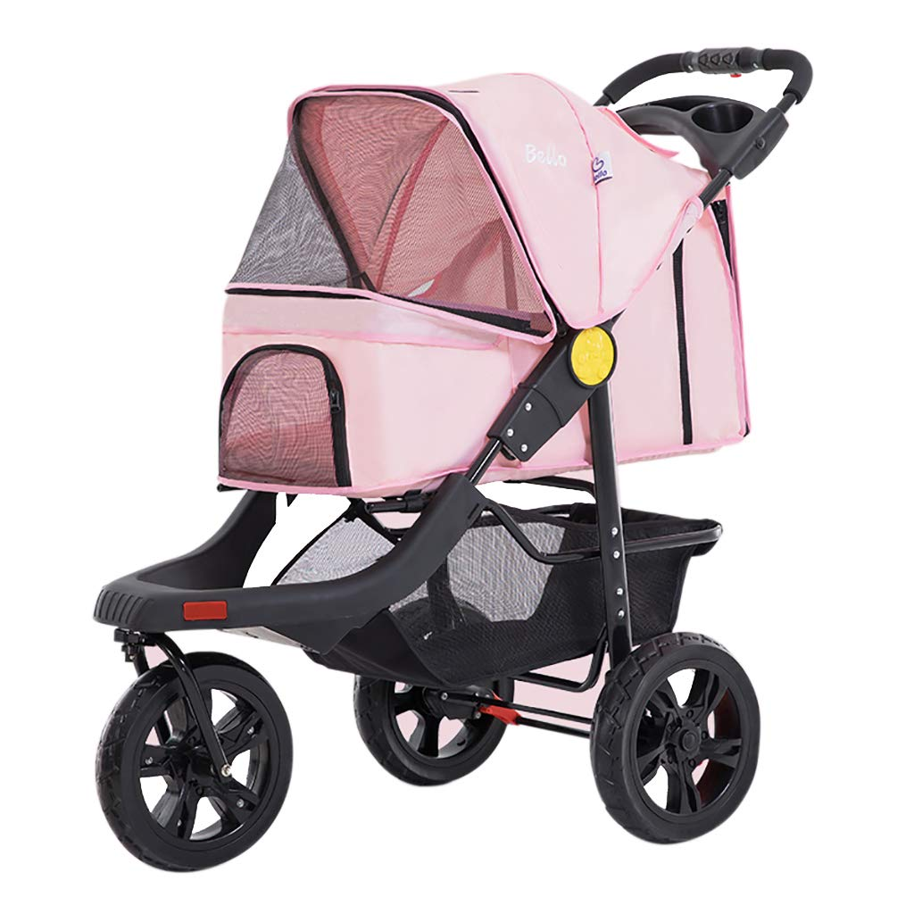 Pink Pet Dog Bike Trailer Bicycle Trailer and Stroller Jogger