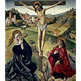 'Maestro de avila (Attributed to) El Calvario Ca. 1490 ' oil painting, 24 x 27 inch / 61 x 70 cm ,printed on Perfect effect canvas ,this Beautiful Art Decorative Canvas Prints is perfectly suitalbe for Living Room gallery art and Home decor and Gifts