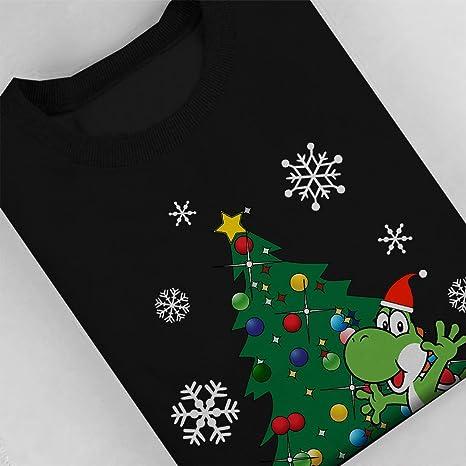 Yoshi Around The Christmas Tree Mario Women's Sweatshirt: Amazon.de:  Bekleidung