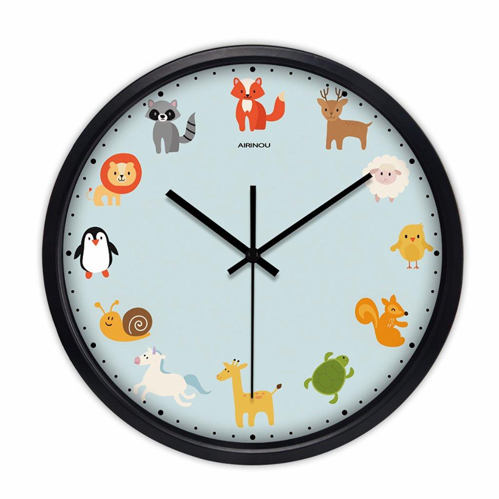 ベッドルームラウンドパーソナリティシンプルな静かなウォールクロックリビングルームクリエイティブ現代の時計クォーツ時計 (色 : 2, サイズ さいず : 12in) B07FVCBPKX 12in|2 2 12in