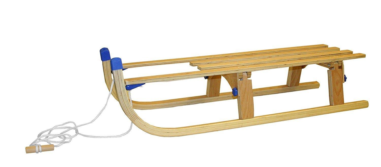 Holzschlitten AK Sport SB-SLED-12D Faltbar 110 cm, blau