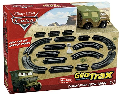 - Fisher-Price Geotrax Cars Ground Track Pack with Sarge