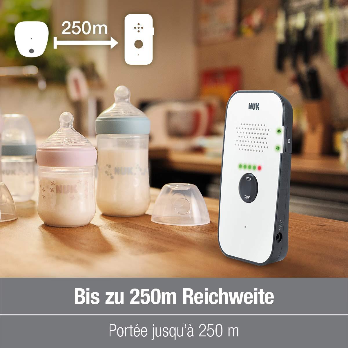 NUK Eco Control 500 Digitales Audio Babyphone Gegensprechfunktion frei von hochfrequenter Strahlung im Eco-Mode wei/ß