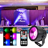 KOOT DJ Stage Light, DMX COB LED Wash Disco Lights with 7 DMX Control and Remote Control, for Wedding Birthday Bar Club Church Party Dance