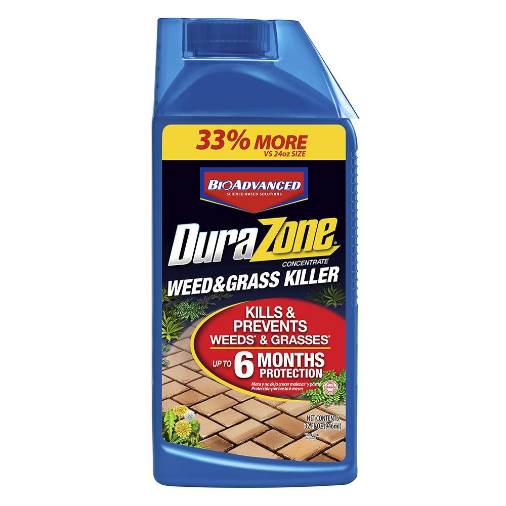 BioAdvanced 80230141 6 Month Prevention Barrier Glyphosate Herbicide DuraZone Weed & Grass Killer Non-Selective, 32-Ounce, Concentrate