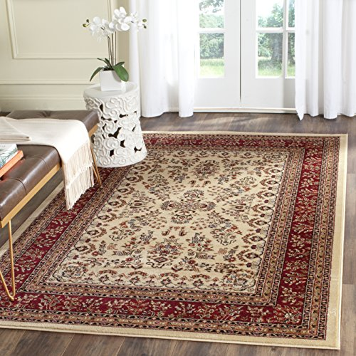 Safavieh Lyndhurst Collection LNH331A Traditional Oriental Ivory and Red Area Rug (5'3