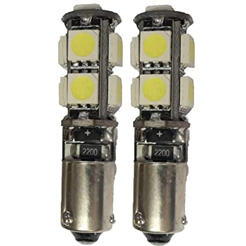 Juego de bombillas LED H21W 9SMD para luz de posición de xenón blanco BAY9s sin error CANBUS EA7R5: Amazon.es: Coche y moto