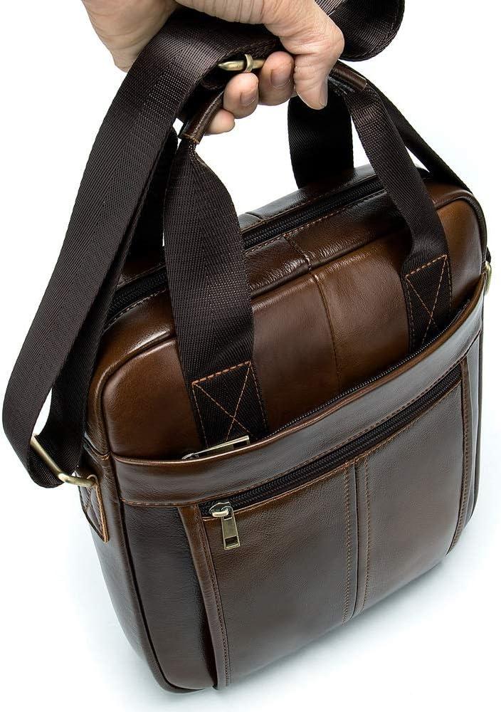 Color : Brown, Size : 26630.5cm RVXHC Mens Handbag Men Crossbody Shoulder Bag Briefcase Business Work Bags Travel Messenger Bag Handbag for School Use Work Use Storing Tools